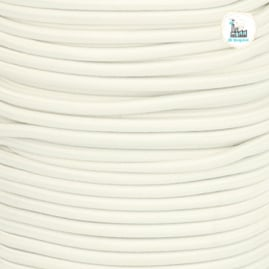 Koord Elastiek Creme 1 meter 3 mm breed