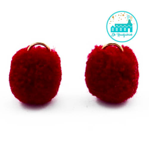 Mini Pompons 15 mm Dark Red