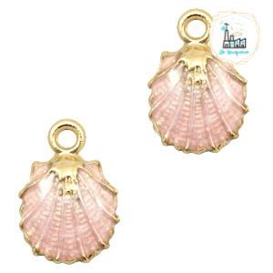 Bedel schelp roze 18.5 mm x 12.5 mm