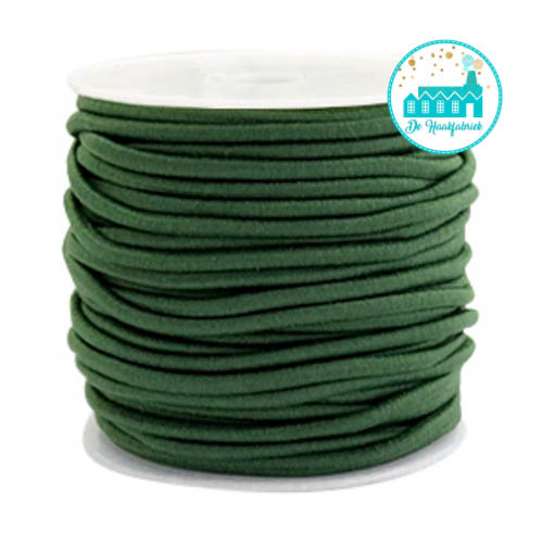 Koord Elastiek Groen 1 meter 2,5 mm breed