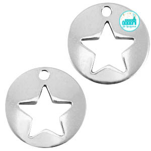 Metal Label Star 14 mm