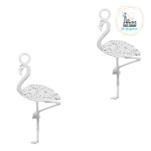 Hangers bohemian flamingo Zilver 20 mm x 5 mm