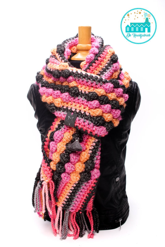 Scarf Pink Bobble