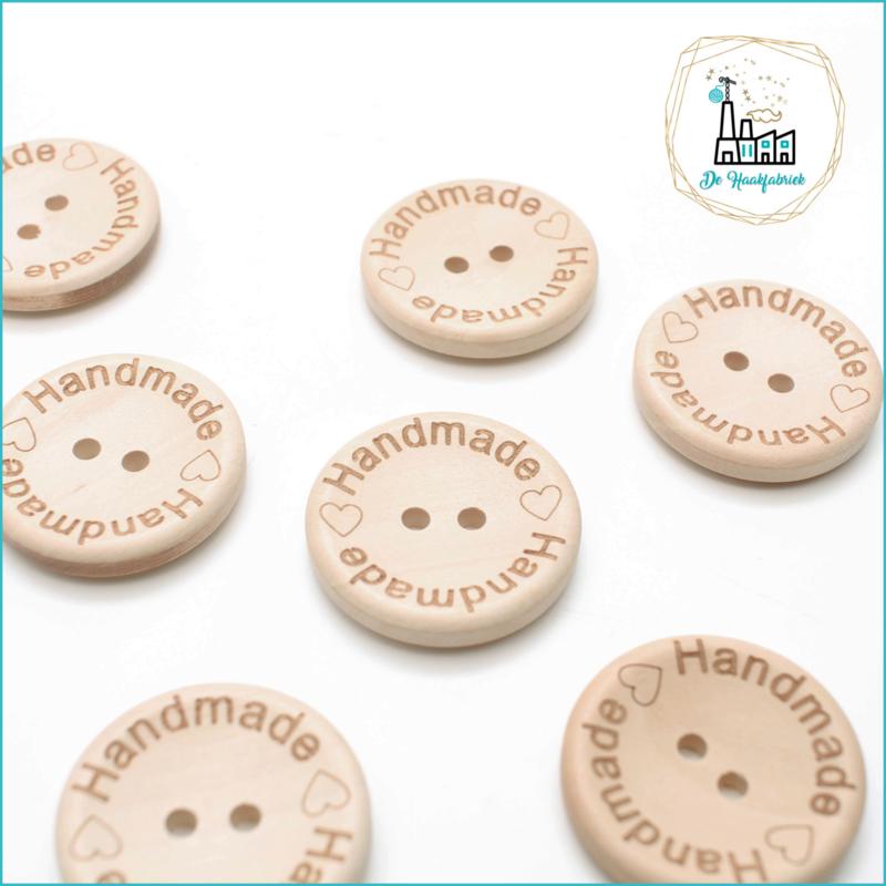 Wooden Button 30 mm Handmade + lover
