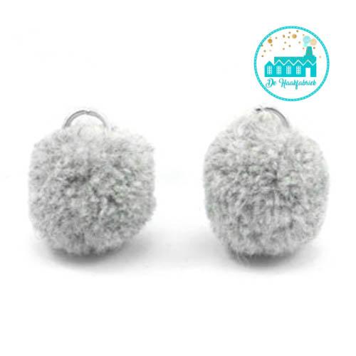 Mini Pompons 15 mm Soft Grey