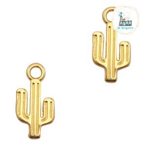 Bedels DQ metaal cactus Goud (nikkelvrij)