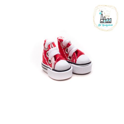 Sneakers voor Amigurumi Poppetjes Rood