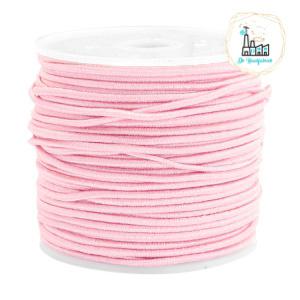 Koord Elastiek Roze 1 meter 1,5 mm breed