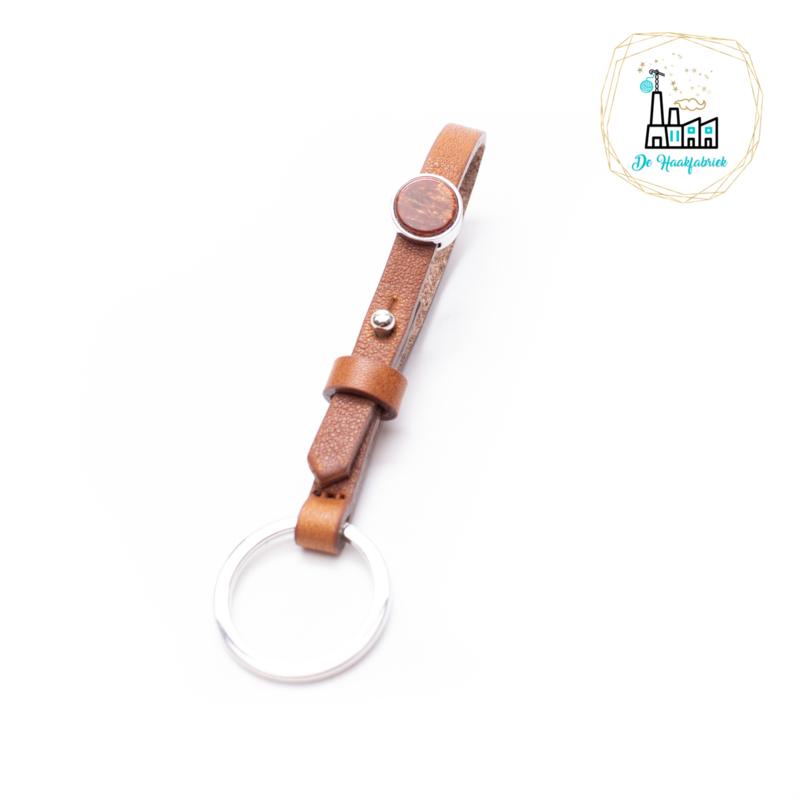 The Dutch Bracelet Factory Sleutelhanger 7851 Cognac