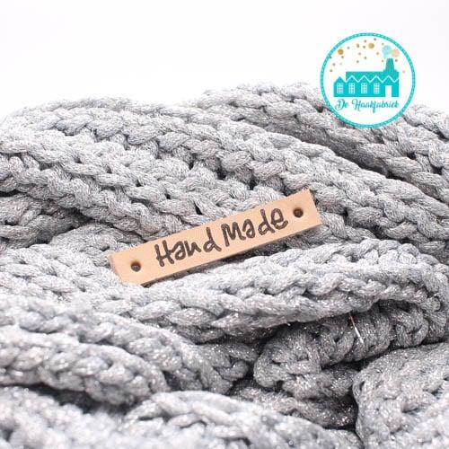 Handmade  Leren Label Bedrukt
