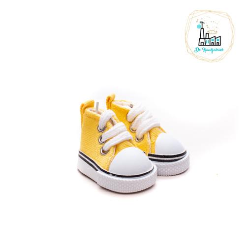 Sneakers voor Amigurumi Poppetjes Geel