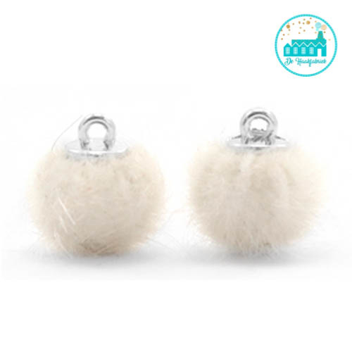 Mini Pompons Faux Fur 12 mm Off White