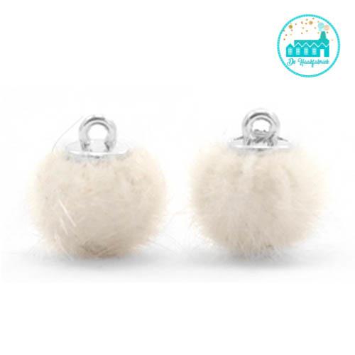 Mini Pompons Faux Fur 12 mm Off White