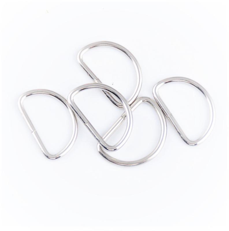 Stevige D-Ringen voor tashengsels 15 mm