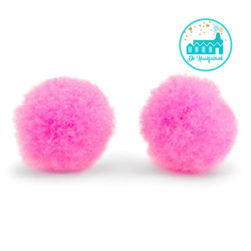 Mini Pompons 15 mm Neon Pink