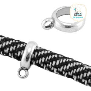 Ring voor bedeltjes of kwastjes Zilver  Ø 7 mm