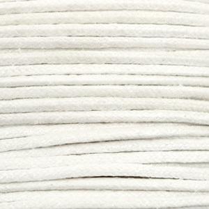 Waxkoord metallic 1.0mm White