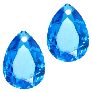 Glashanger 10x14mm CAPRI BLUE