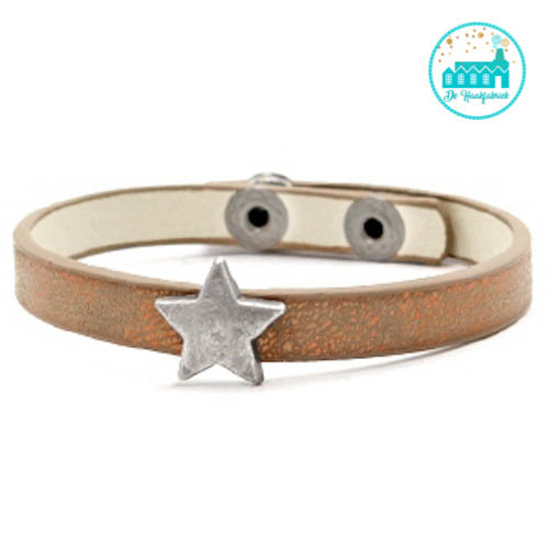ARMBANDJE MET STER METALLIC BROWN COPPER