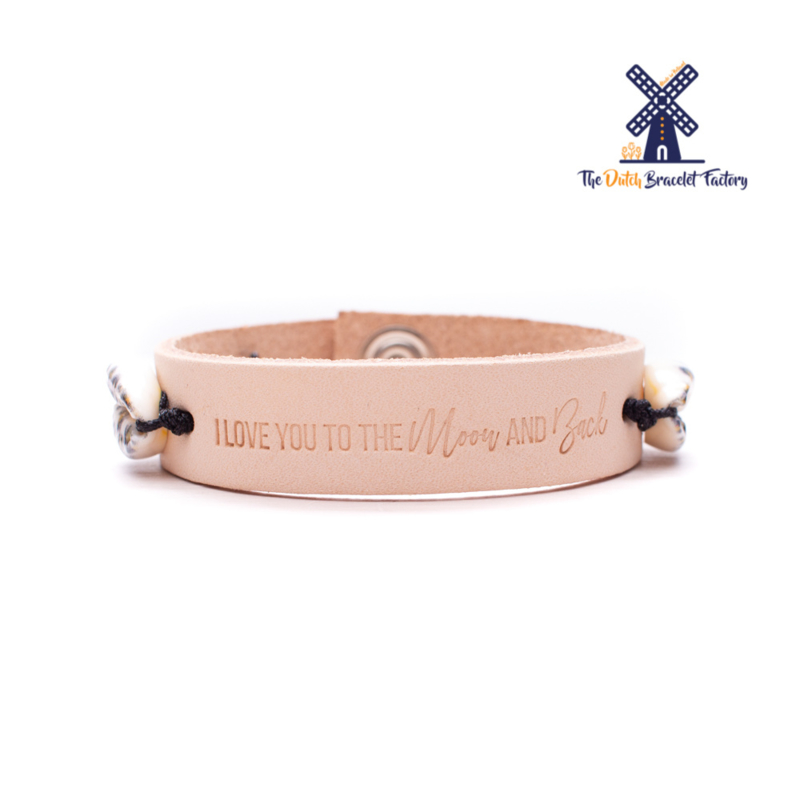 Leren Armband Love you to the Moon and Back 003