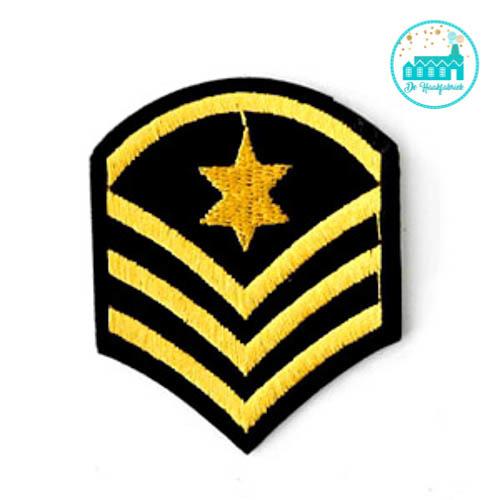 Patch Army sign Black-Gold6 cm x 5 cm
