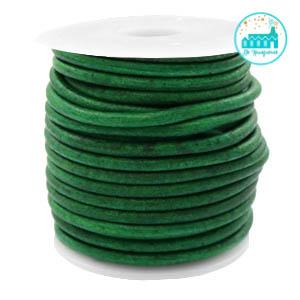 Leren Koord Rond Vintage Groen 3mm