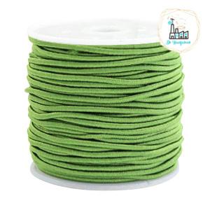 Koord Elastiek Groen 1 meter 1,5 mm breed