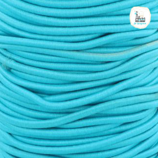 Koord Elastiek Aqua 1 meter 3 mm breed