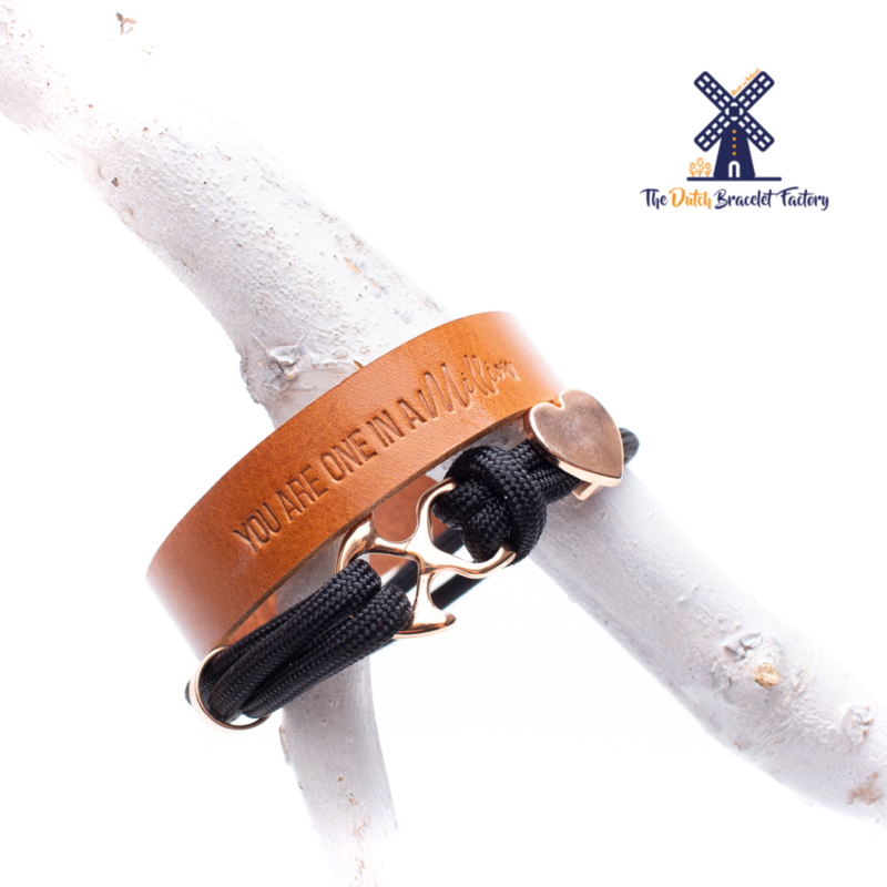 Leren Armband YOU ARE ONE IN A MILLION 15MM