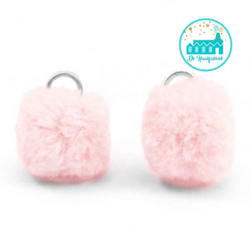 Mini Pompons 15 mm Light Vintage Pink