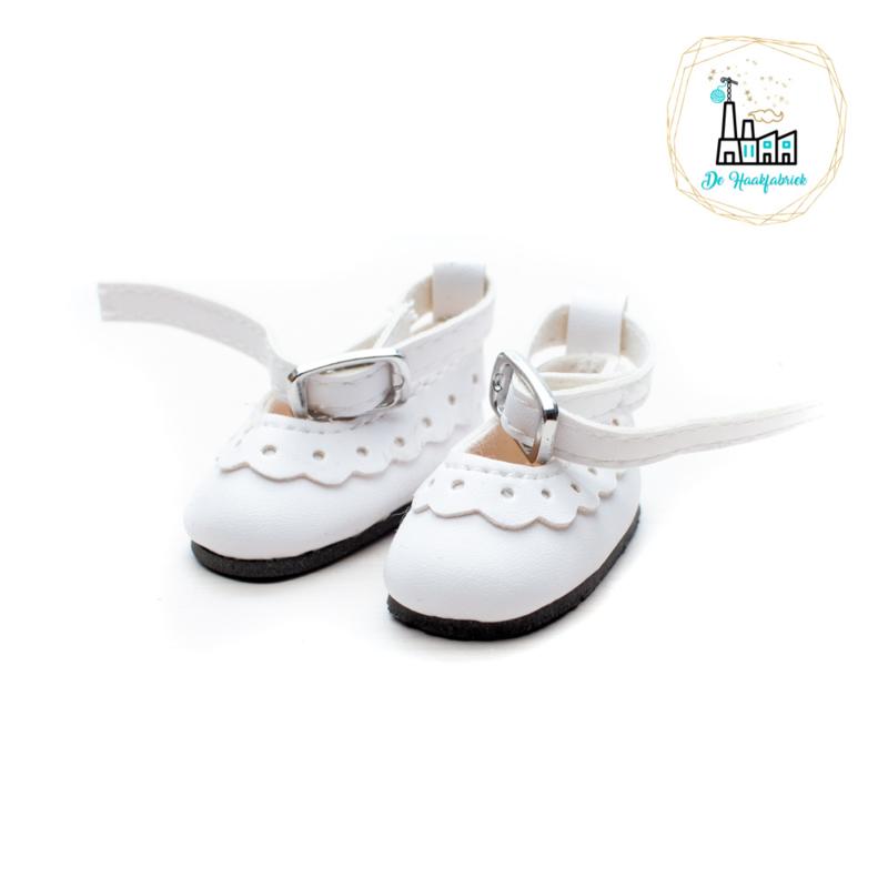 Schoentjes voor Amigurumi Poppetjes Wit met enkelbandje
