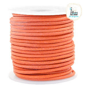 Leren Koord Rond 3mm Antique orange