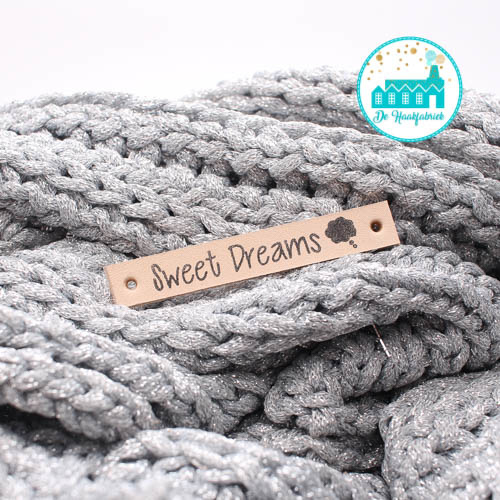 Leren Label Sweet Dreams Bedrukt