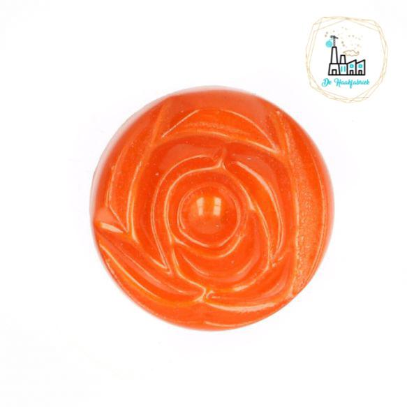 Roosknoopje 10 MM Oranje