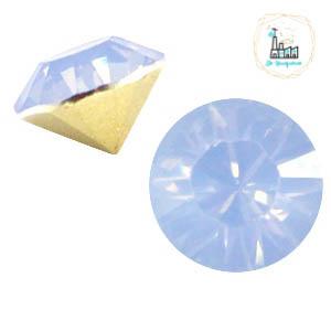 BQ puntsteen SS39 Light sapphire blue opal