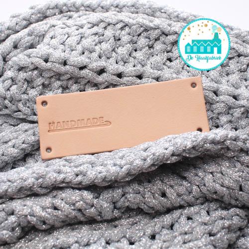 Big Labels 8 cm x 3 cm 'Handmade with crochet Needle' transverse