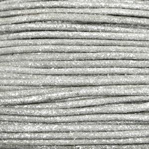 Waxkoord metallic 2.0mm Steel grey