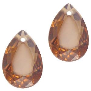 Glashanger 10x14mm SMOKE TOPAZ OPAL