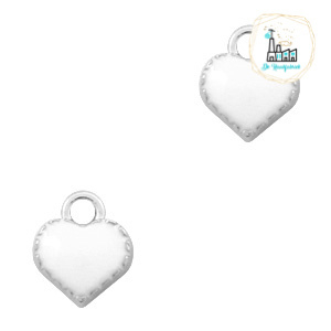 bedels hart Zilver-White 9 x 8 MM
