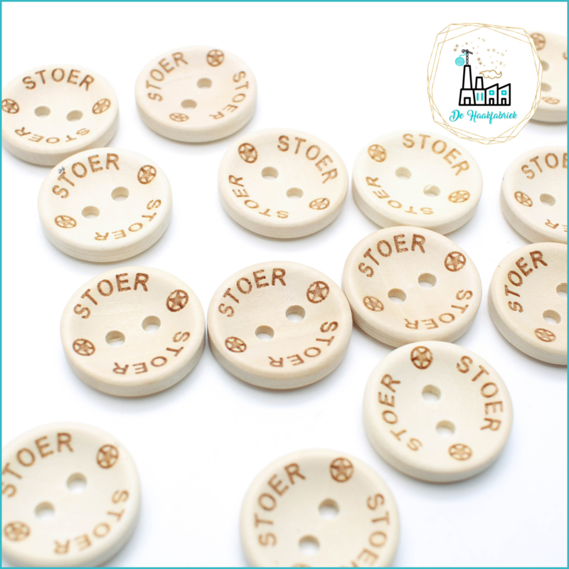 Wooden Buttons 20 mm 'Stoer'