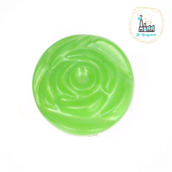 Roosknoopje 10 MM Groen