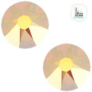 Swarovski Steentje SS34 flatback Rose Crystal Metallic Sunshine