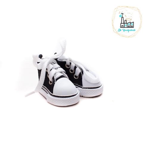 Sneakers voor Amigurumi Poppetjes Zwart