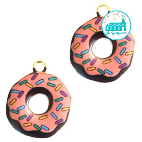 Charm Donut Pink 19 mm x 16 mm