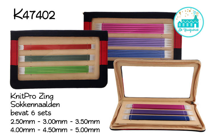 KnitPro Zing Knitting Needles for socks 20 cm