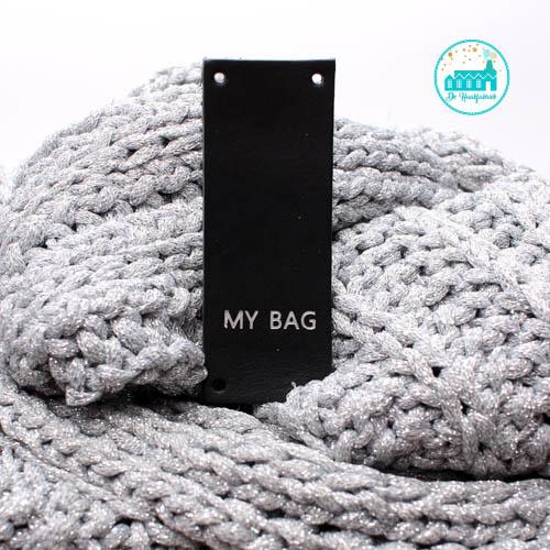 My Bag Rechthoek Zwart Label 8 cm  x 3 cm