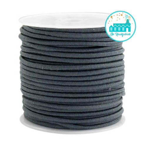 Grey Elastic Cord 25 mm per meter
