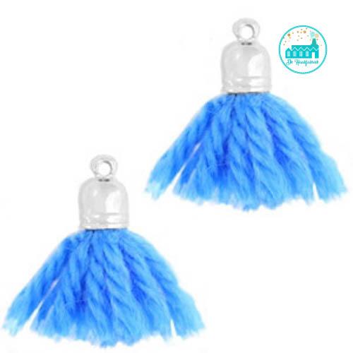 Kwastjes Kobalt Blauw 2 cm