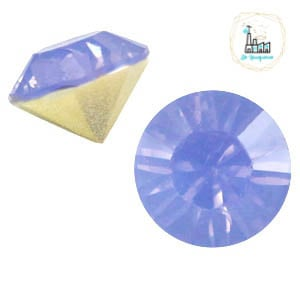 BQ puntsteen SS39 Sapphire blue opal