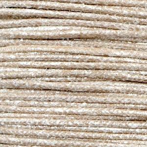 Waxkoord metallic 2.0 mm Tan grey